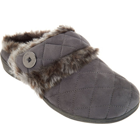 Vionic Quilted Slippers - Fireside
