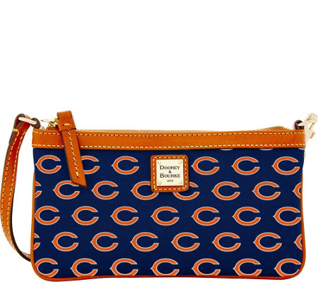 Dooney & Bourke NFL Bears Large Slim Wristlet