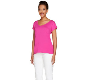 """As Is"" View by Walter Baker Short Sleeve Knit Top - A288273"