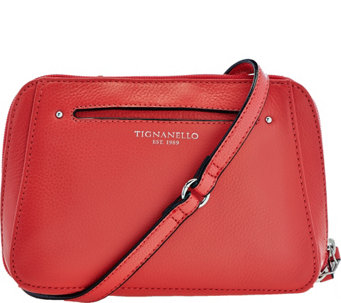 """As Is"" Tignanello Pebble Leather RFID Crossbody and Belt Bag - A289073"