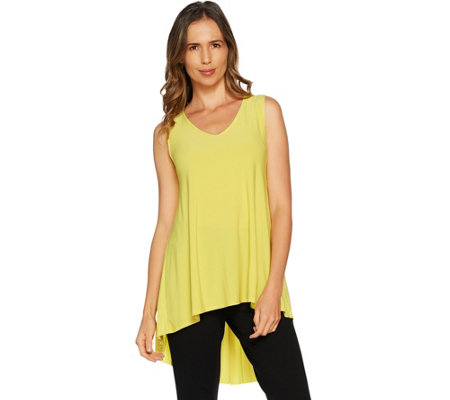 Attitudes by Renee Sleeveless Pleated Back Jersey Knit Top