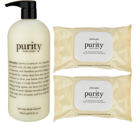 philosophy purity made simple cleanser & cloths trio