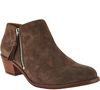 Vionic Orthotic Suede Ankle Boots - Serena - A293773