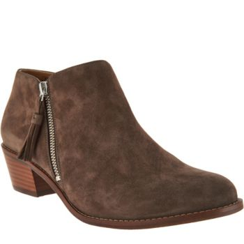 Vionic Orthotic Suede Ankle Boots - Serena