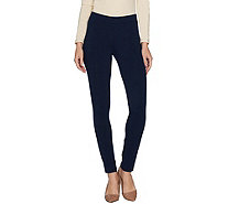 Susan Graver Weekend Premium Stretch Leggings with Seam Detail - A299873
