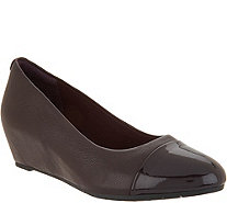 Clarks Artisan Leather Wedge Pumps - Vendra Dune - A300573
