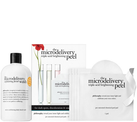 philosophy microdelivery exfoliating duo facial wash & weekly peels