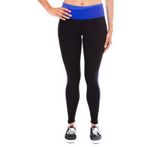 90 Degree by Reflex Pull On Color Block ActivePants - A330773