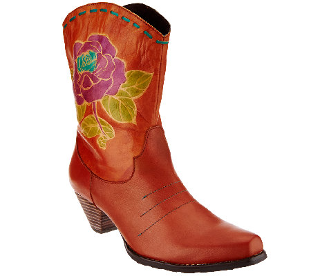 Spring Step L'Artiste Western-Style Leather Boots - Aster