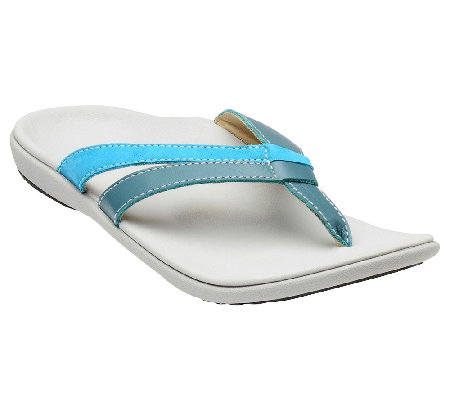 Spenco Orthotic Leather Thong Sandals - Brooke