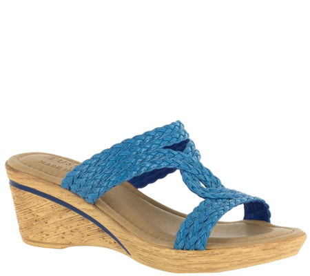 Tuscany by Easy Street Wedge Slide Sandals - Loano