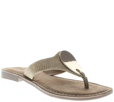 Azura by Spring Step Leather Slide Sandals - Terre