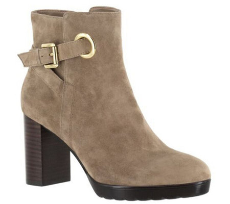 Bella Vita Leather or Suede Ankle Boots - Zelda