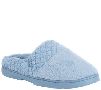 MUK LUKS Micro Chenille Clogs with QuiltedBand - A152674