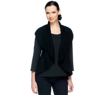 VT Luxe Chunky Ruffle Convertible Loop Scarf Vest - A227974