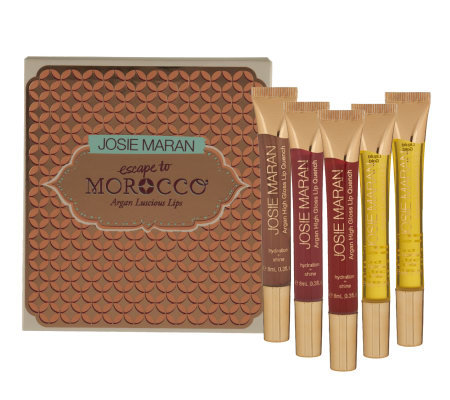 Josie Maran Set of 5 Argan Hydrating Lip Quenches