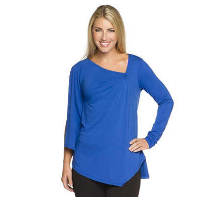 Status by Star Jones Knit Side Drape Top