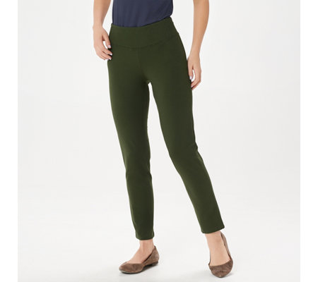 Women with Control Slim Leg Ankle Pants w/ Waist Seaming