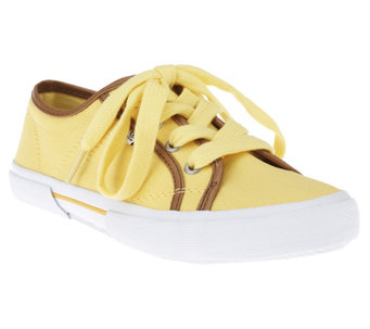 Isaac Mizrahi Live! Canvas Tie Sneakers - A251774
