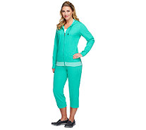 """As Is"" Denim & Co. Active Reversible Jacket & Capri Pants Set - A258274"