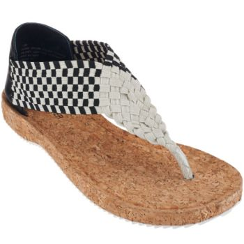 Adam Tucker Stretch Woven Thong Sandals - Adelle