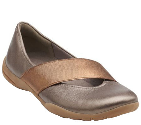 Clarks Leather Slip-on Mary Janes - Vailee Pine