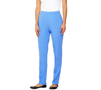 """As Is"" Denim & Co. Active French Terry Pull-on Pants w/ Seam Detail - A268074"