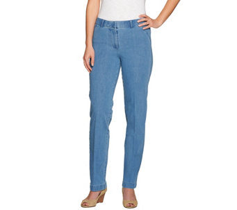 Isaac Mizrahi Live! Regular 24/7 Denim Straight Leg Pants - A275474
