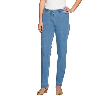 Isaac Mizrahi Live! Regular 24/7 Denim Straight Leg Jeans