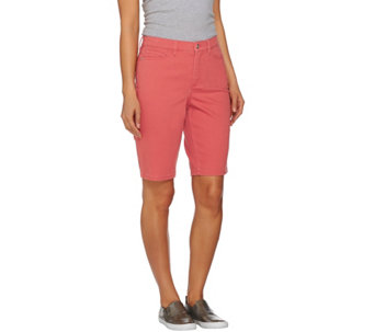 "Denim & Co. ""How Modern"" 5 Pocket Colored Denim Bermuda Short - A275574"
