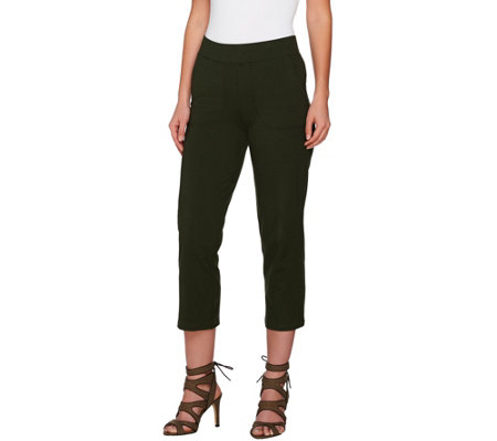 Women with Control Petite Pull-On Crop Pants with Pockets