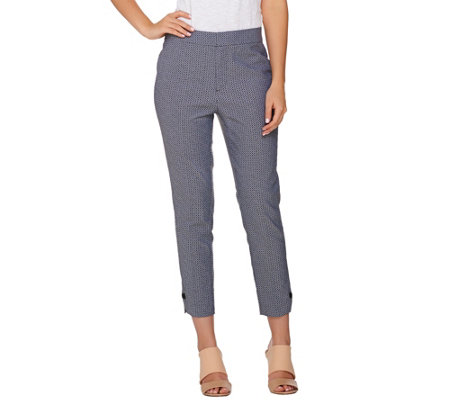 Kelly by Clinton Kelly Crop Pants with Button Cuff