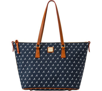 Dooney & Bourke MLB Braves Zip Top Shopper - A280074