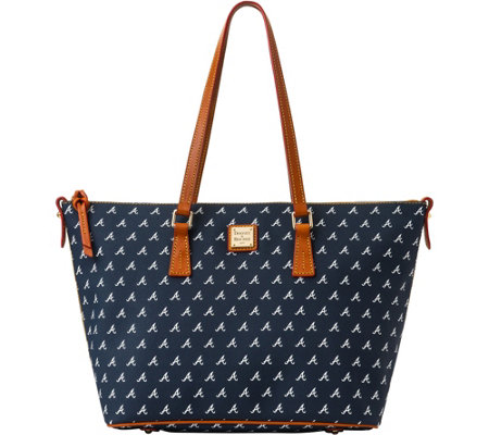 Dooney & Bourke MLB Braves Zip Top Shopper
