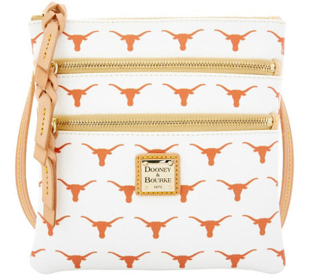 Dooney & Bourke NCAA University of Texas Zip Crossbody