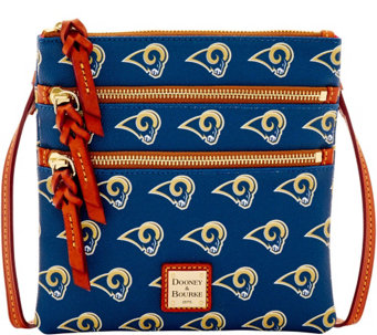 Dooney & Bourke NFL Rams Triple Zip Crossbody - A285674