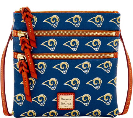 Dooney & Bourke NFL Rams Triple Zip Crossbody