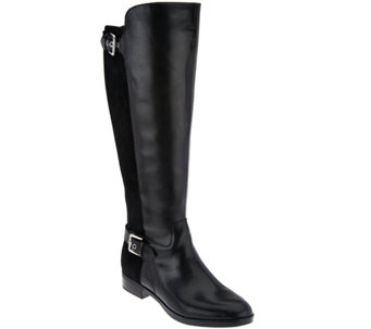"""As Is"" Marc Fisher Wide Calf Tall Shaft Leather Boots - Damsel - A291074"