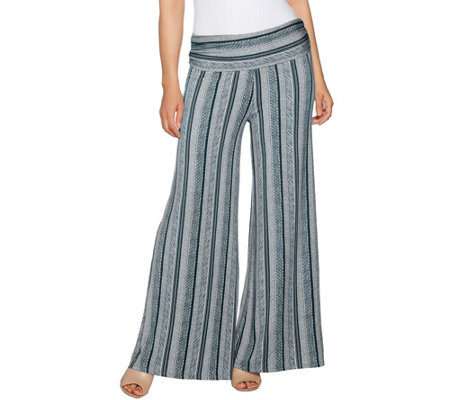 Lisa Rinna Collection Petite Printed Palazzo Pants