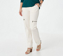 Susan Graver Weekend Premium Stretch Pull-On Cargo Pants - A294874
