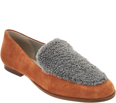 Lori Goldstein Collection Loafer with Faux Sherling Detail