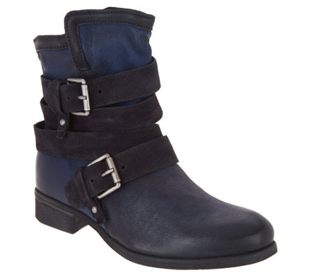 Miz Mooz Leather Ankle Boots w/ Buckle Detail - Savvy