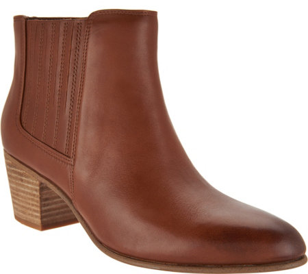 Clarks Leather Side Zip Ankle Boots - Maypearl Tusla