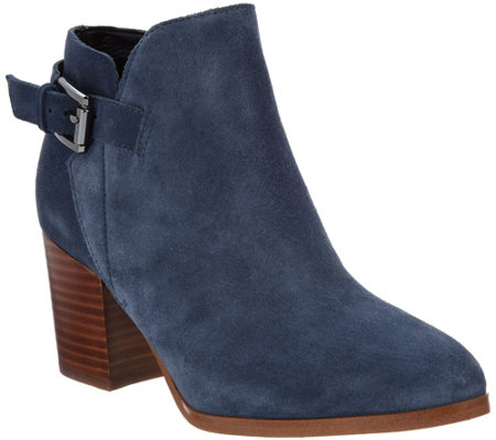 """As Is"" Marc Fisher Suede Block Heel Ankle Boots- Vandy"