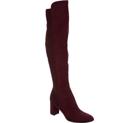 """As Is"" Marc Fisher Faux Suede Over-the-Knee Boots - Loran"