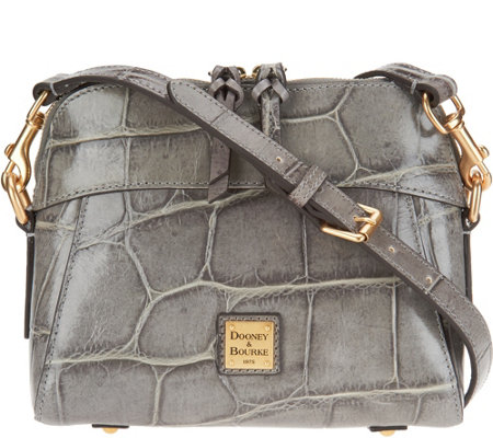 """As Is"" Dooney & Bourke Croco Leather Cameron Crossbody"