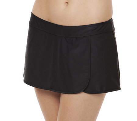 Simply Swim Solid Wrap Skirted Brief
