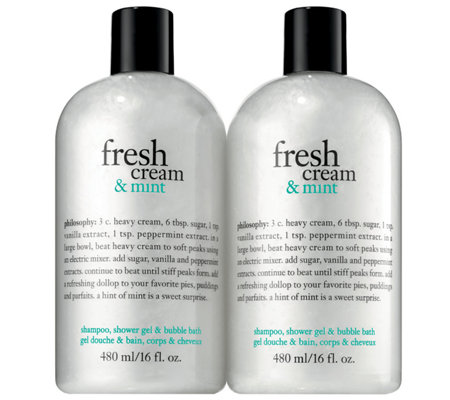 Philosophy Fresh Cream and Mint Duo