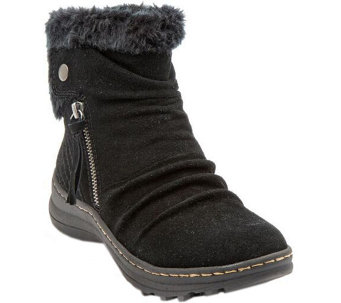 BareTraps Water-Resistant Suede Ankle Boots - Amelya - A356474