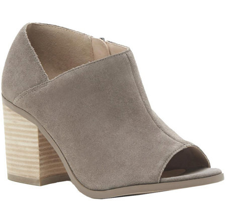Sole Society Peep Toe Leather Booties - Arroyo